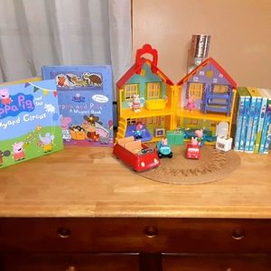 Large Peppa pig deluxe playhouse, dvds,books set